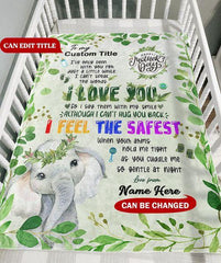 Personalized Elephant Blanket With Title and Name II06
