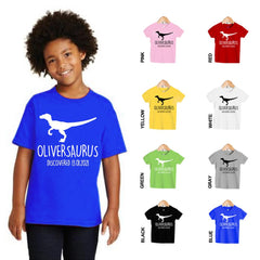 Personalized Kids Dinosaur T-Shirt 04