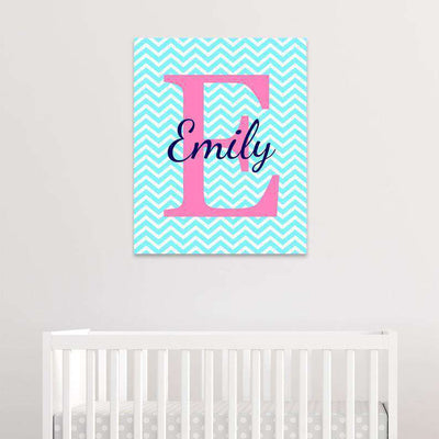 Monogram Nursery Canvas Art 01