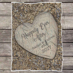 Personalized Couple's Anniversary Fleece Blanket-LoveStone