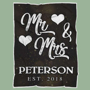 Personalized Couple's Anniversary Fleece Blanket-MrMrs