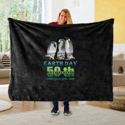 Global Earth Unique Fleece Blanket I02