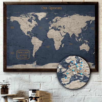 Personalized World Push Pin Travel Map Canvas-02