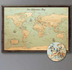 Personalized Push Pin World Travel Map Canvas-03