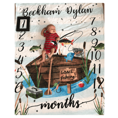 Baby Swaddle Fleece Blanket 02-Fishing