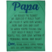 PERSONALIZED PAPA WE HUGGED THIS LOVELY BLANKET - FLEECE BLANKETS 01