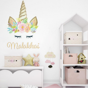 Unicorn Wall Decal Kids Name Custom