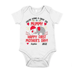 Personalized Baby Onesie From Mummy - Elephants