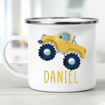 Personalized  Monster Truck Mug13- Yellow