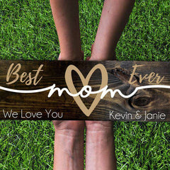 Custom Wood Mom Family Sign 04