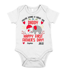 Personalized Baby Outfit For Father's Day - Elephants