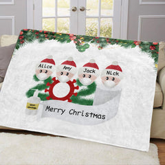 Personalized Christmas Family Blanket With Names 03