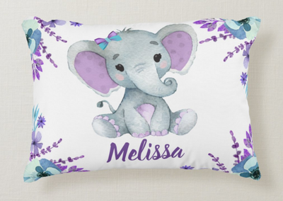 Personalize Name Elephant Pillow 04
