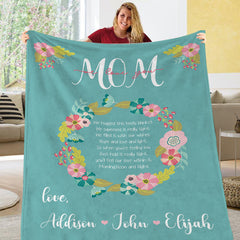 Personalized Mom/Mommy/Nana Mother's Day Blanket I04