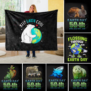 Global Earth Unique Fleece Blanket I04