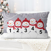 Personalized Snowman Family Pillowcase With Name 08
