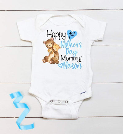 Personalized Mother's Day Baby Onesie10-Bear
