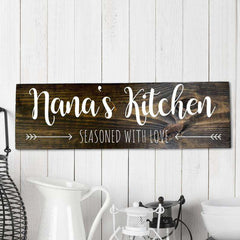 Custom Wood Mom Family Sign 06