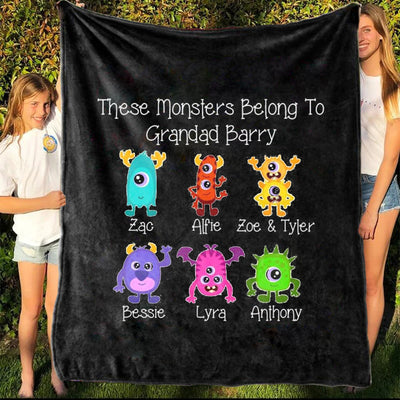 Personalized Family Name Blanket I09