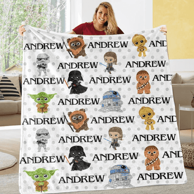 Custom Name Fleece Blanket 06