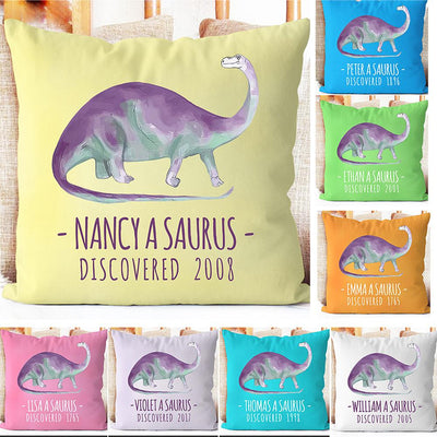Personalize Name Cushion Dinosaur 02
