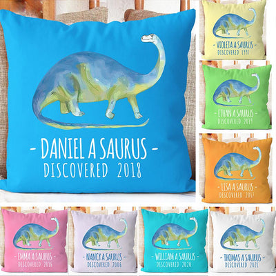 Personalize Name Cushion Dinosaur 03