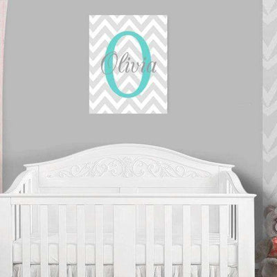 Monogram Nursery Canvas Art 07