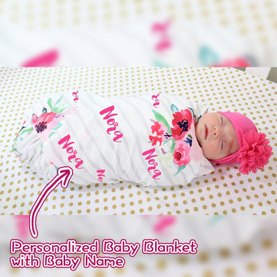 Baby Swaddle Fleece Blanket-White