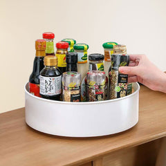 Kitchen rotatable multifunctional storage tray