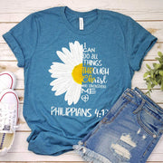 I Can Do All Things Daisy Tee 07