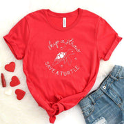 Skip A Straw Save A Turtle | Graphic Tee Women Print T-shirt | Sea Protect Slogan Summer Tees | Misscomfy - Miss Comfy