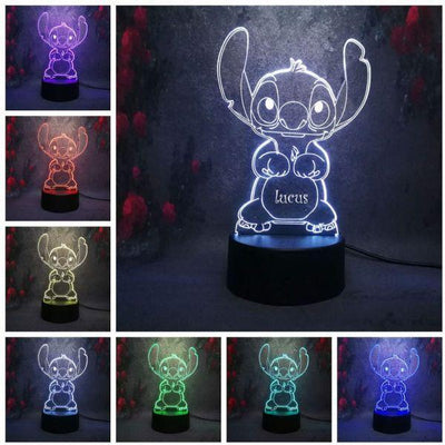 Personalized Name Night Lights for Kids/7 Colors 3D Night Light 08