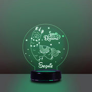 Personalized Name Night Lights for Kids Sweet Dream Lama 03