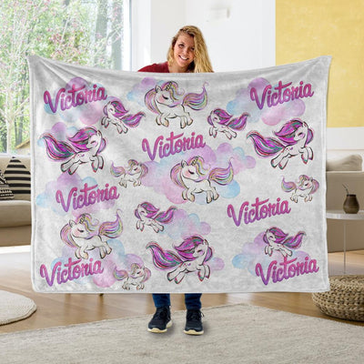 Baby Swaddle Fleece Blanket-Unicorn2