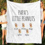 Personalized Family Name Blanket I11