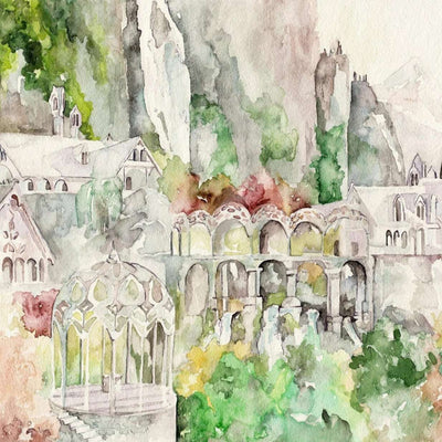 Watercolor Canvas Painting 13