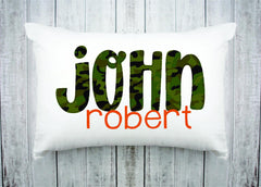 Personalized Kids Name Pillow 31 -Dark Green