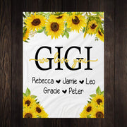Personalized Floral Blanket 10
