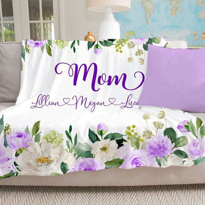 Personalized FloralBlanket 09