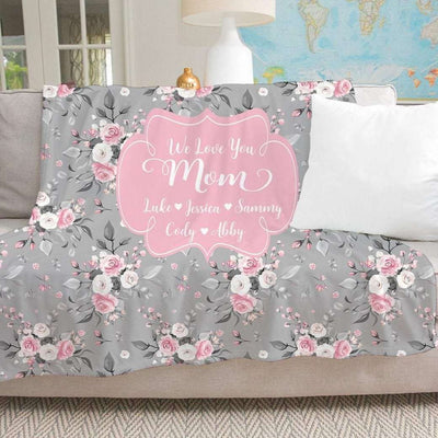 Personalized Floral Blanket 05