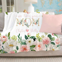 Personalized Floral Blanket 08