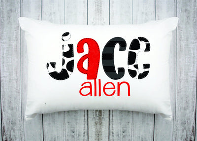 Personalized Kids Name Pillow 33 -Cow
