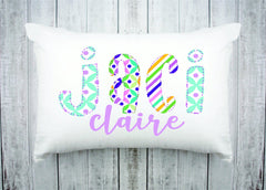 Personalized Kids Name Pillow 37 -Purple