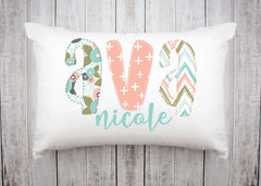 Personalized Kids Name Pillow 12 -Mint