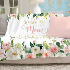 Personalized Floral Blanket 07