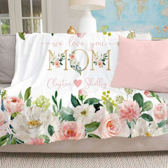 Personalized Floral Blanket 03