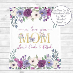 Personalized Floral Blanket 04