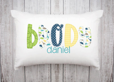 Personalized Kids Name Pillow 32 -Dinosaur