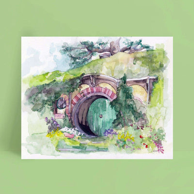 Watercolor Canvas Painting 21