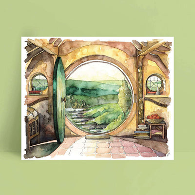 Watercolor Canvas Painting 22
